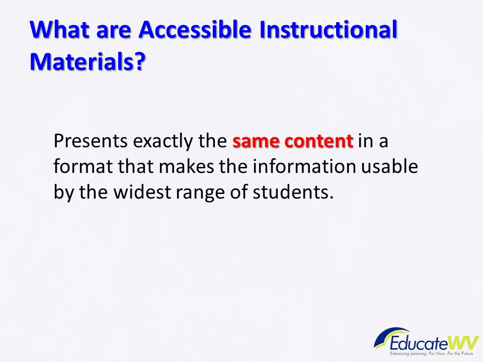 What are Accessible Instructional Materials