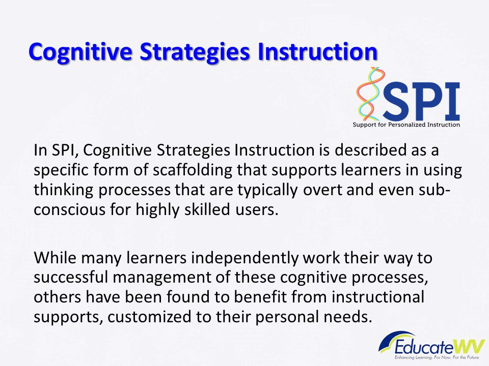 Cognitive Strategies Instruction