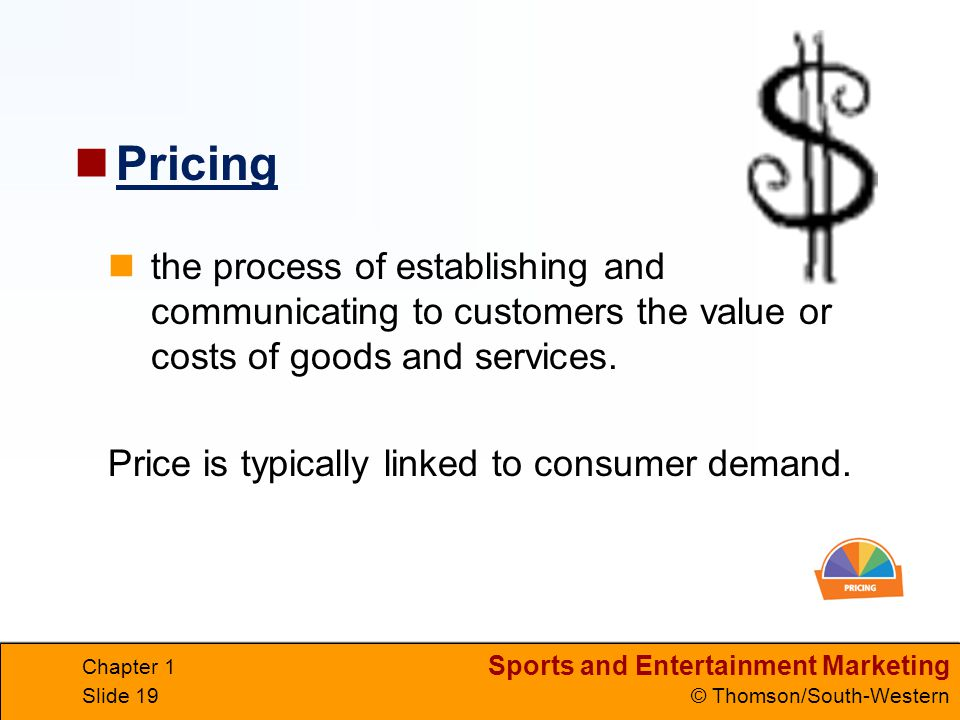 Pricing the process of establishing and communicating to customers the value or costs of goods and services.