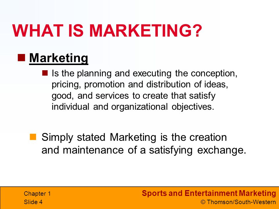 WHAT IS MARKETING Marketing