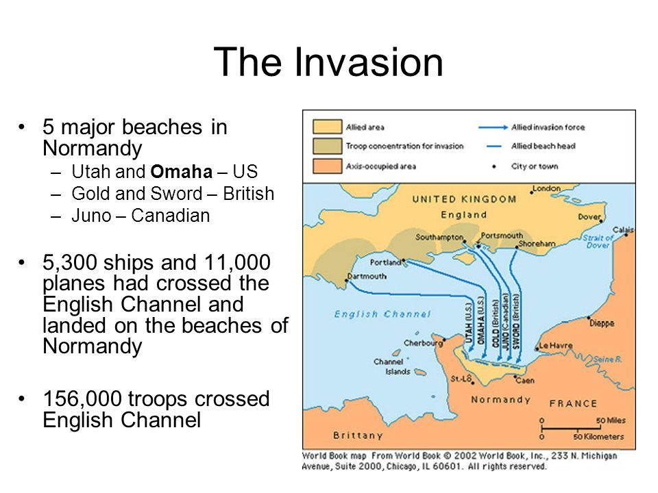 The Invasion 5 major beaches in Normandy
