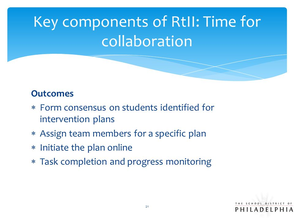 Key components of RtII: Time for collaboration