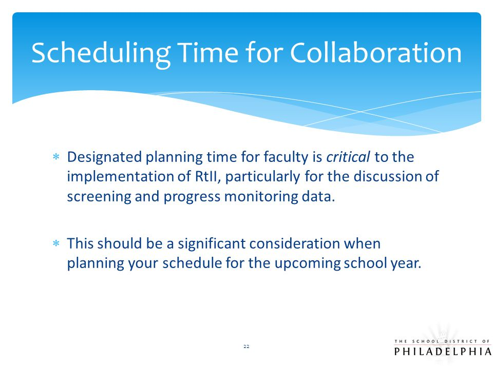 Scheduling Time for Collaboration