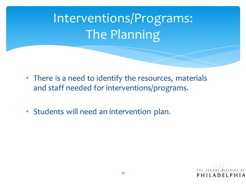 Interventions/Programs: The Planning