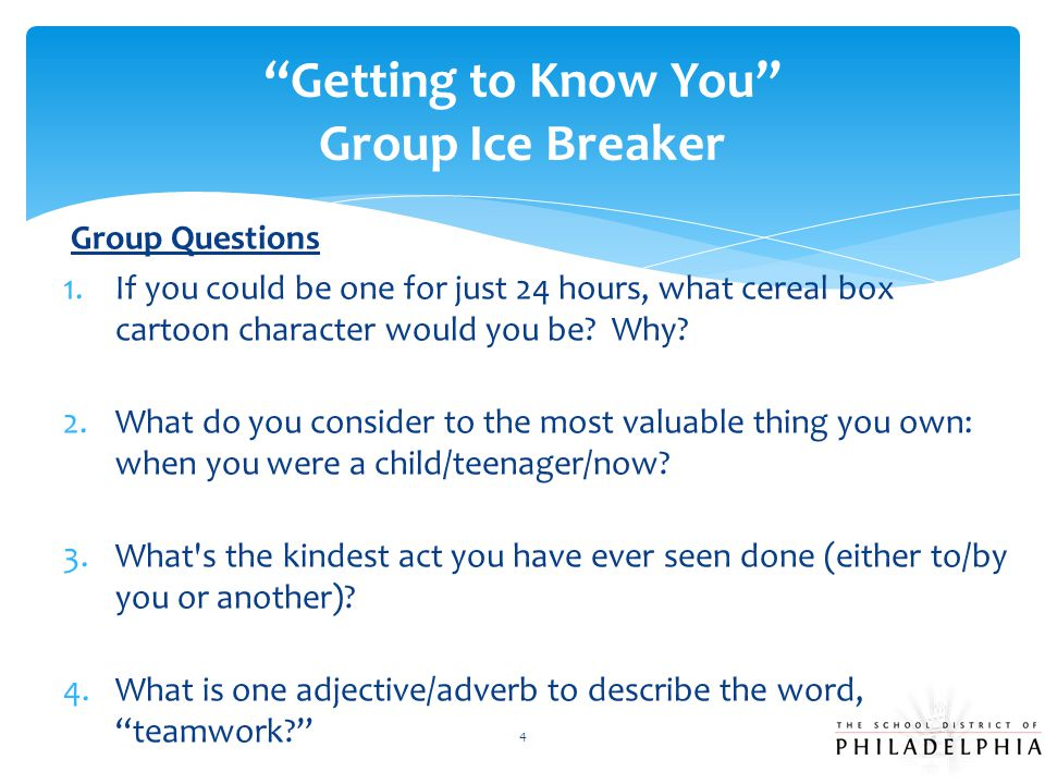 Getting to Know You Group Ice Breaker
