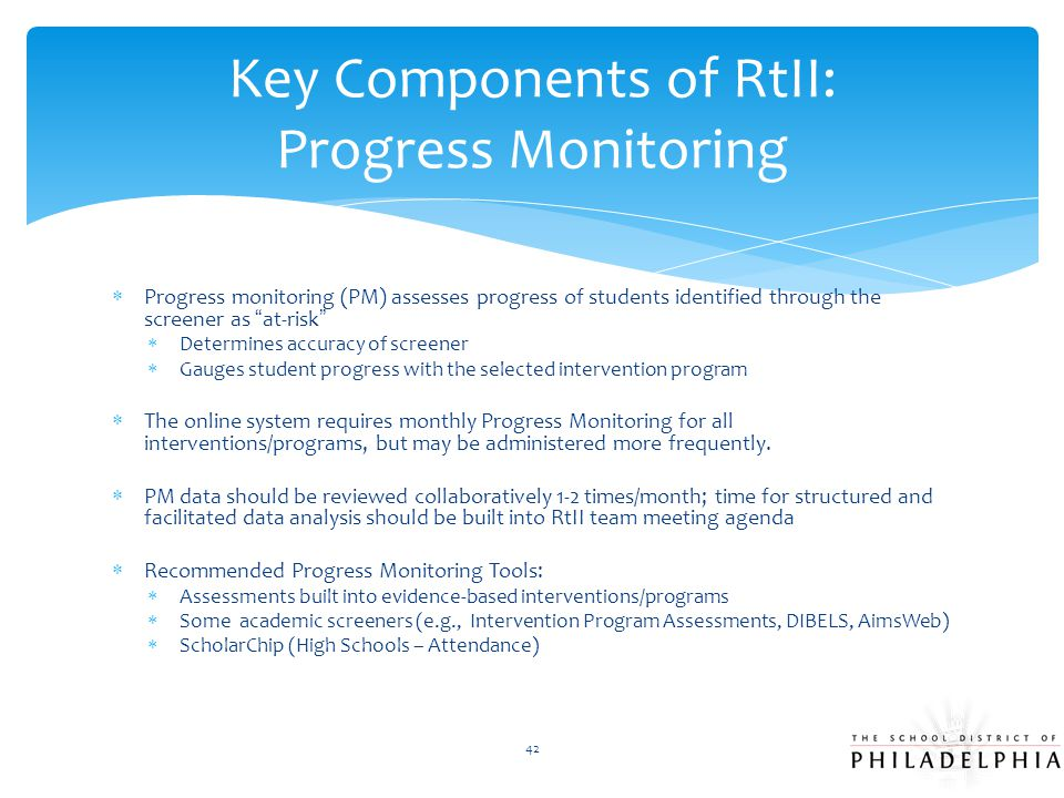 Key Components of RtII: Progress Monitoring