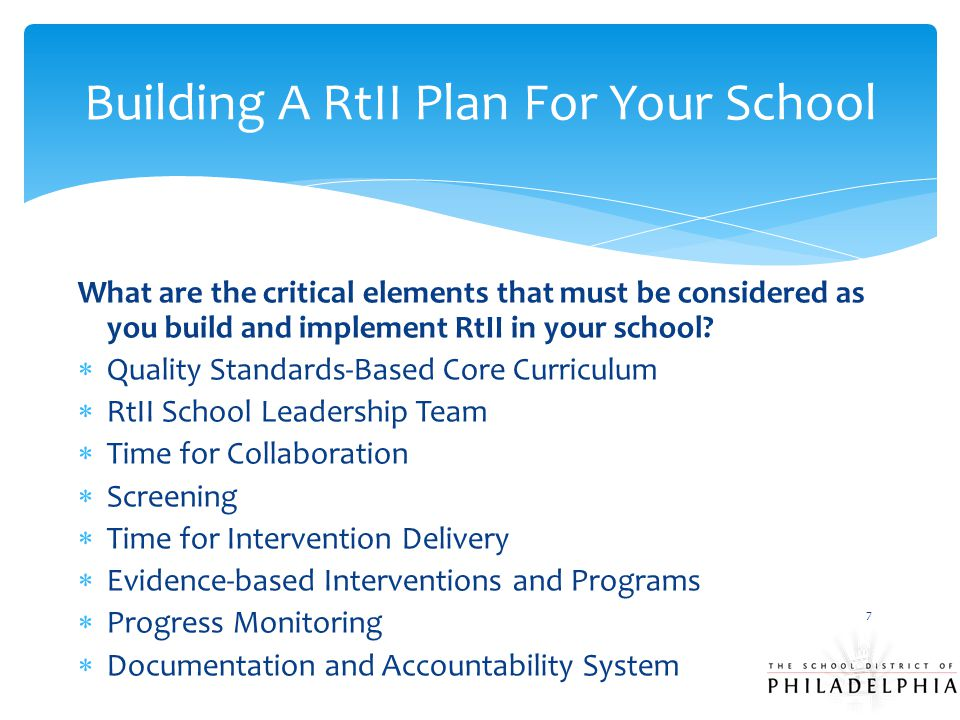 Building A RtII Plan For Your School