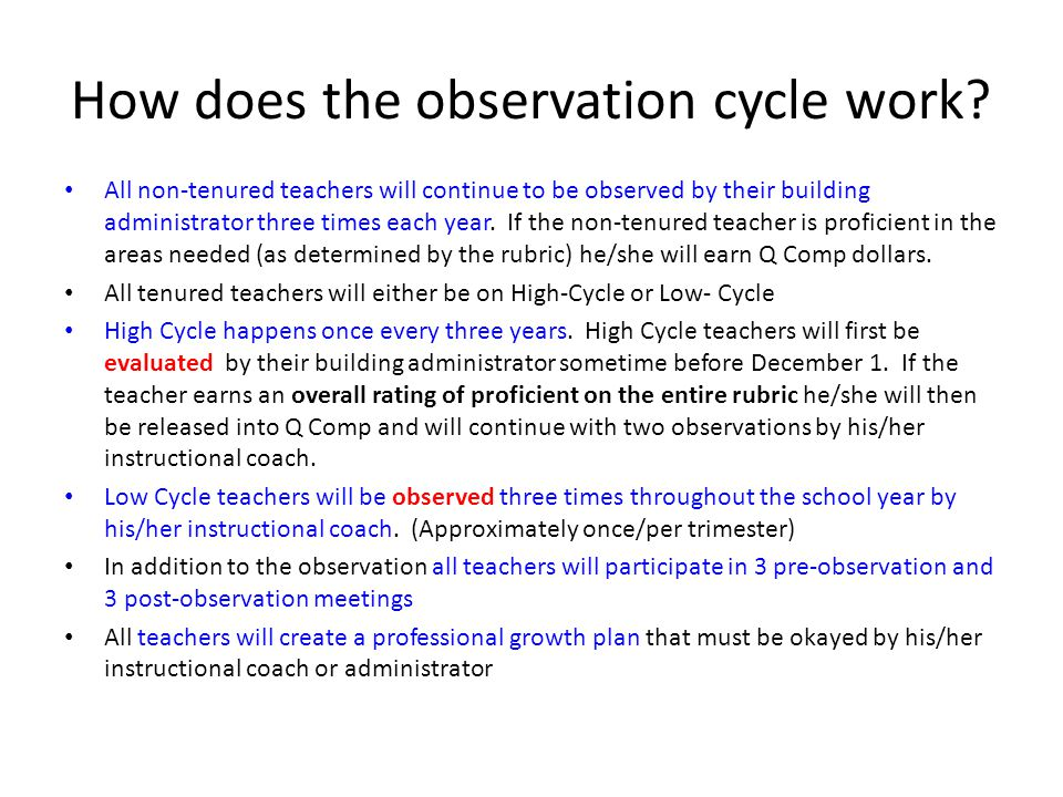 How does the observation cycle work