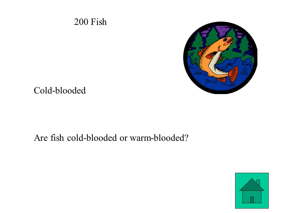 200 Fish Cold-blooded Are fish cold-blooded or warm-blooded
