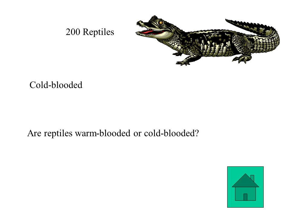 200 Reptiles Cold-blooded Are reptiles warm-blooded or cold-blooded