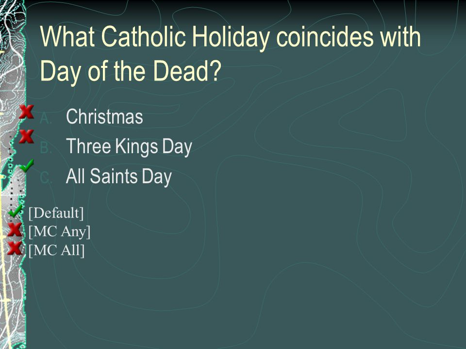 What Catholic Holiday coincides with Day of the Dead