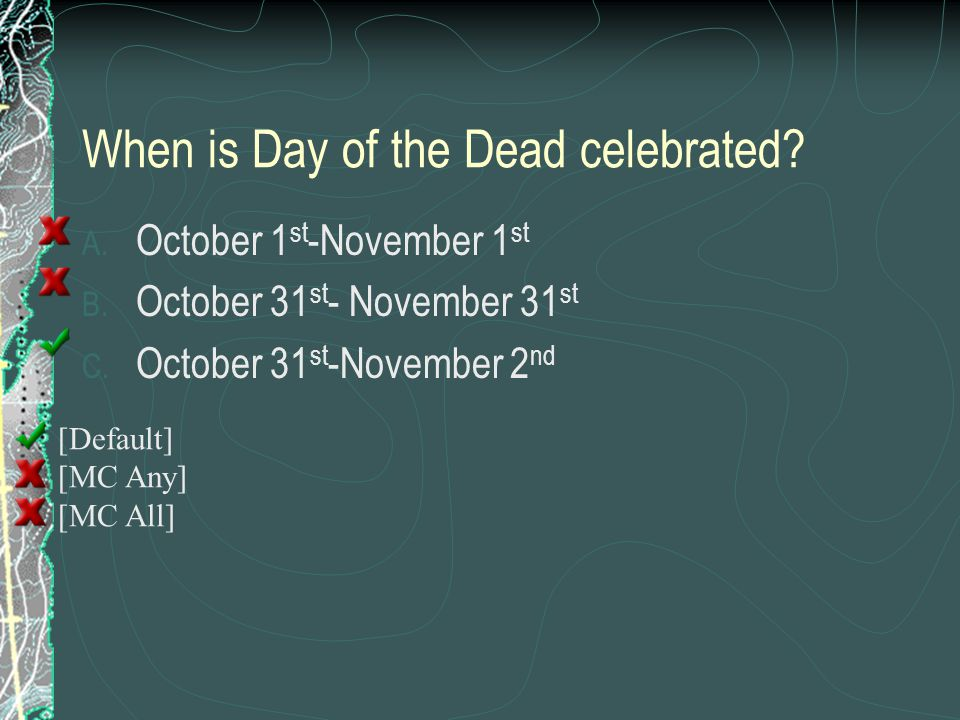 When is Day of the Dead celebrated