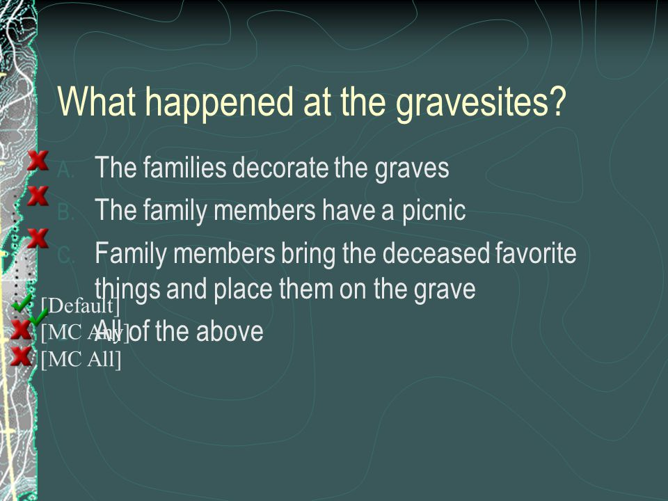 What happened at the gravesites
