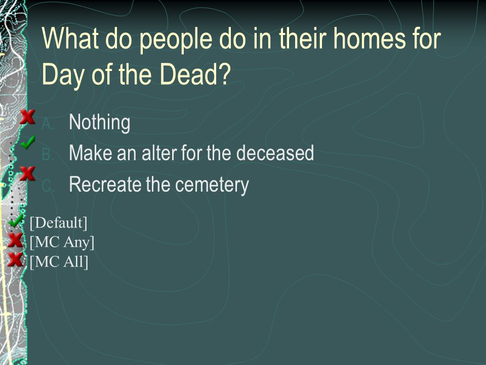 What do people do in their homes for Day of the Dead