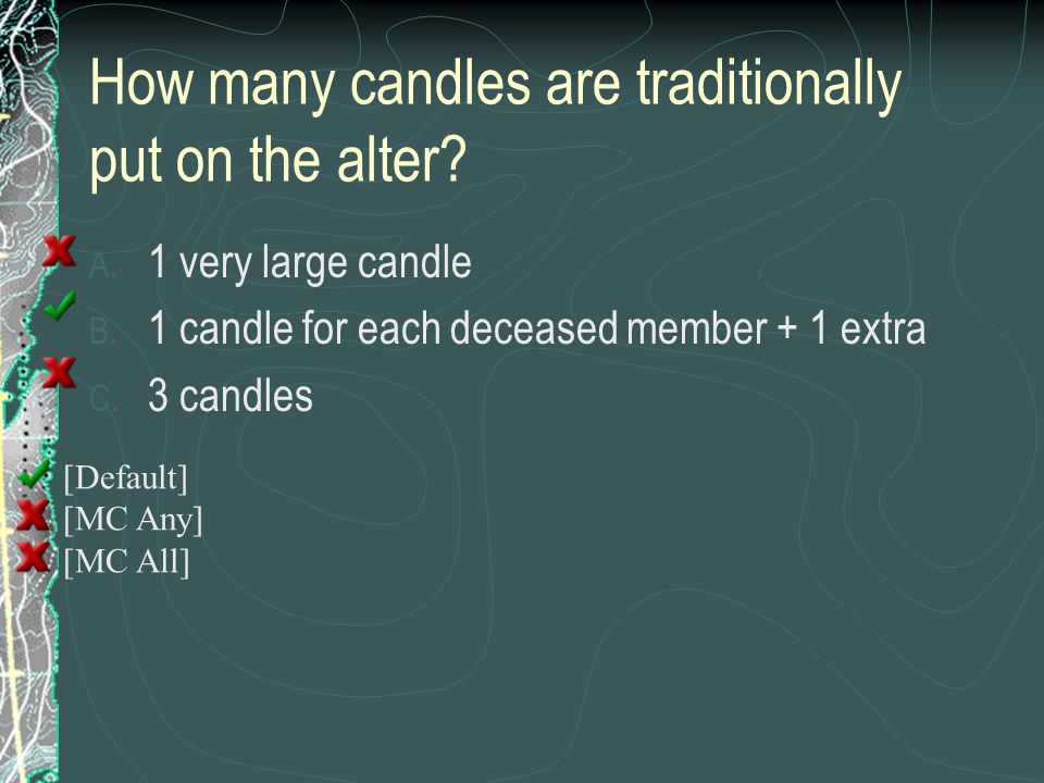 How many candles are traditionally put on the alter