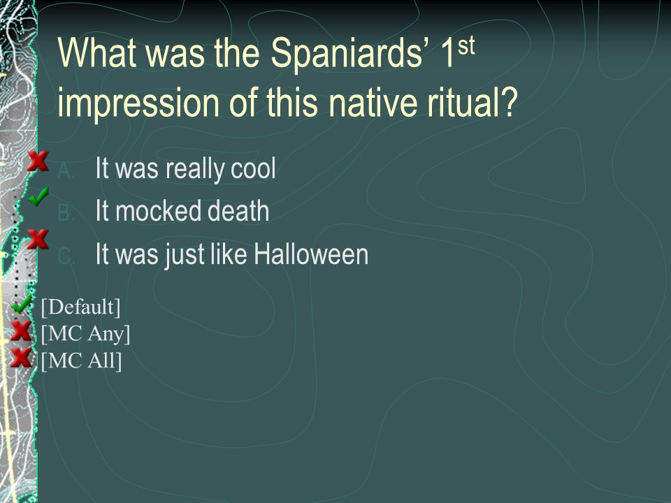 What was the Spaniards' 1st impression of this native ritual