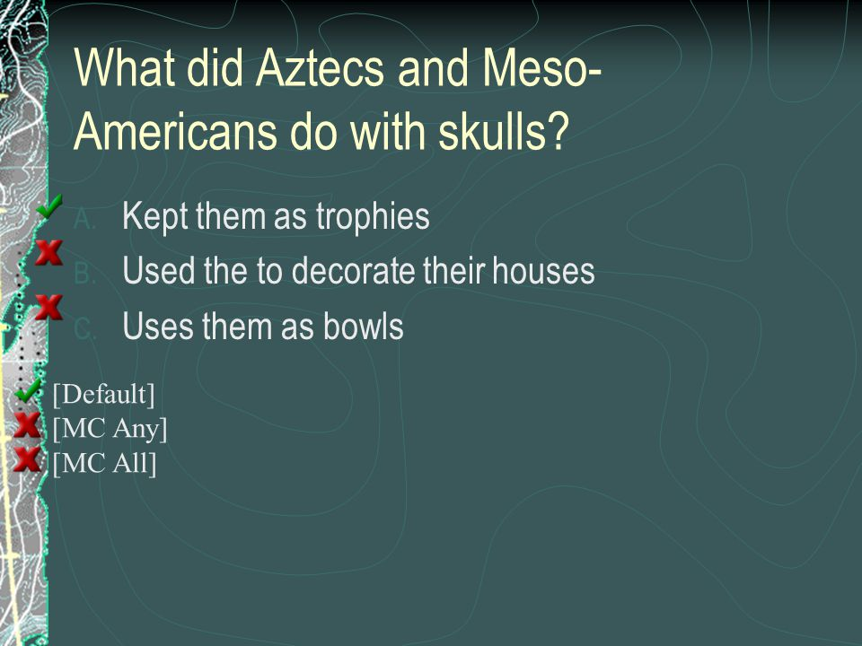 What did Aztecs and Meso-Americans do with skulls