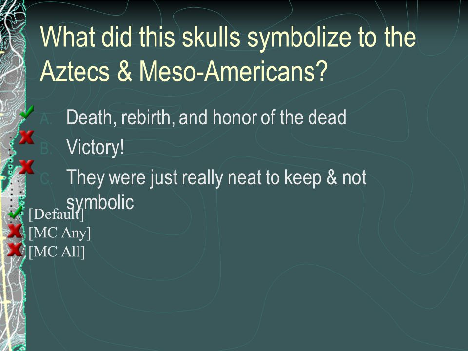 What did this skulls symbolize to the Aztecs & Meso-Americans
