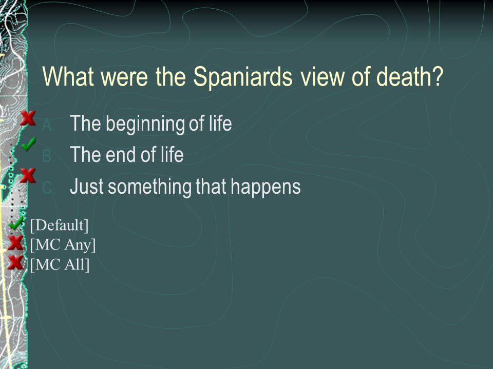 What were the Spaniards view of death