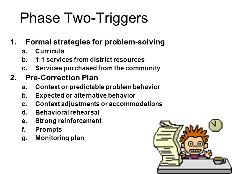 Phase Two-Triggers Formal strategies for problem-solving