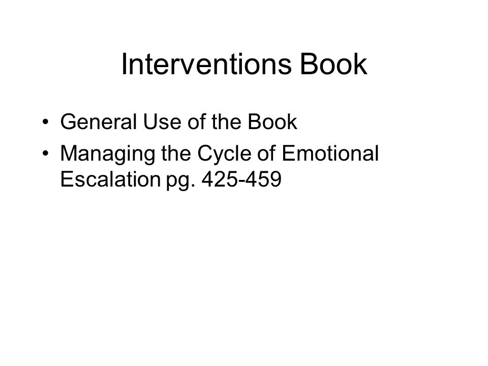 Interventions Book General Use of the Book