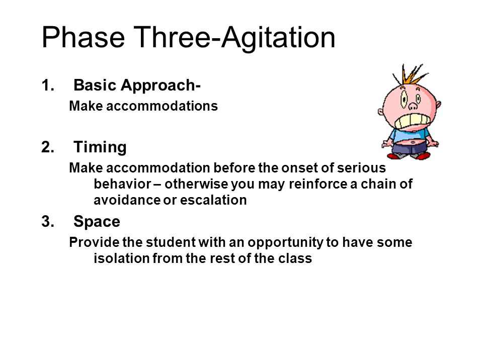 Phase Three-Agitation