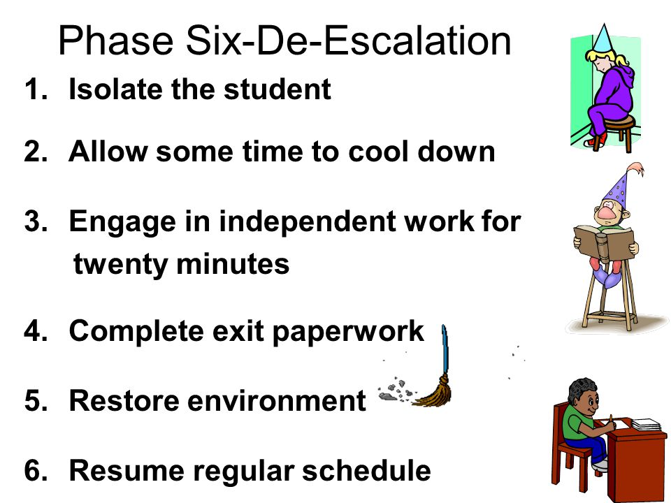 Phase Six-De-Escalation