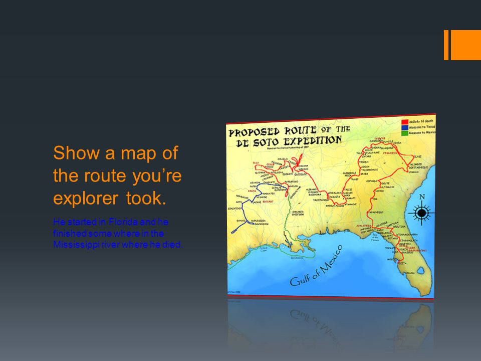 Show a map of the route you're explorer took.