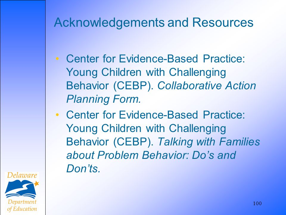 Acknowledgements and Resources