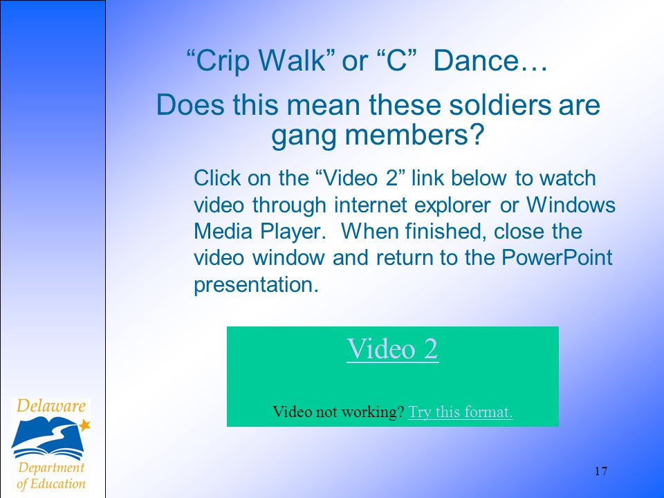 Crip Walk or C Dance…