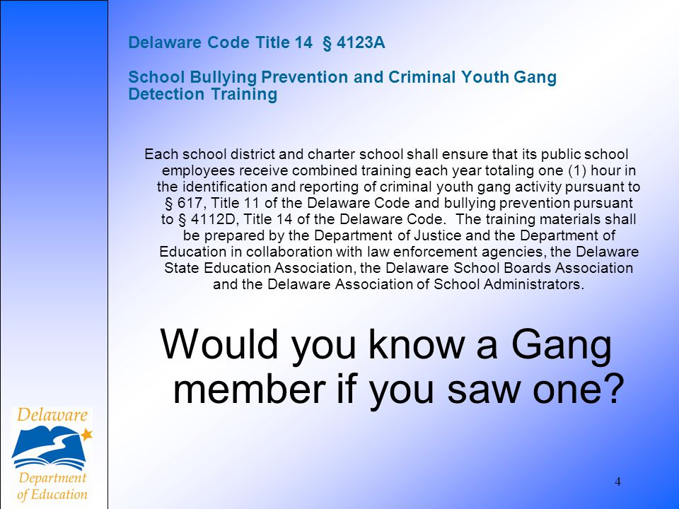 Would you know a Gang member if you saw one