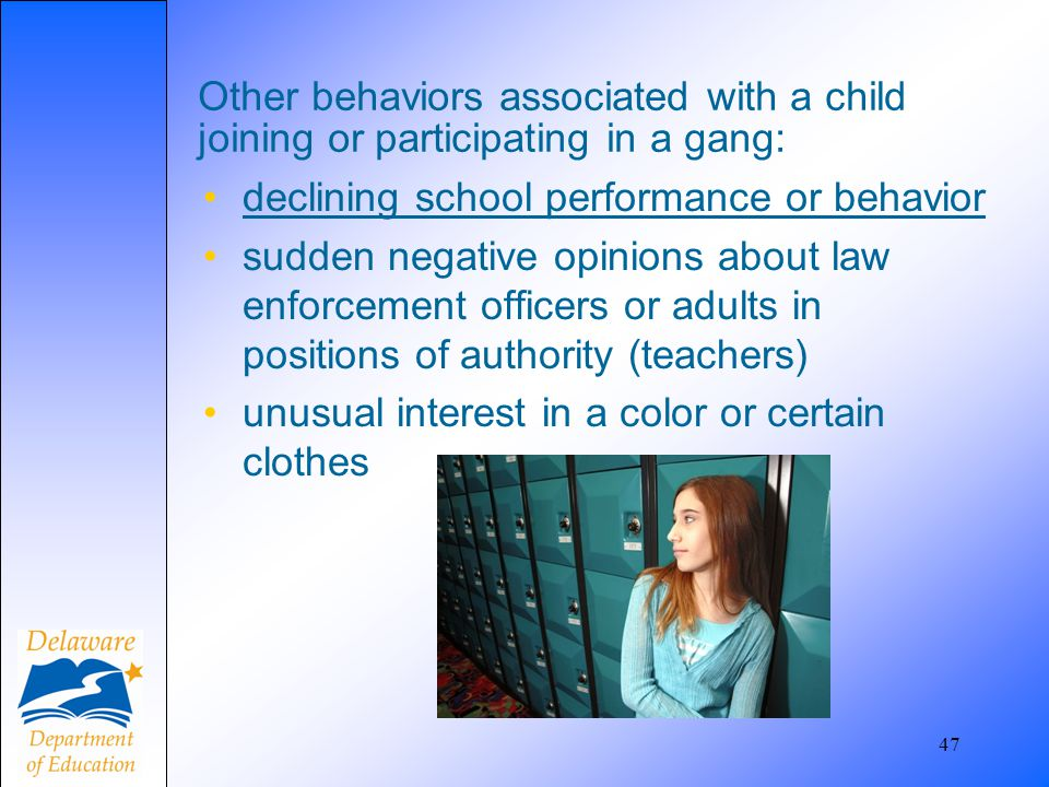 declining school performance or behavior