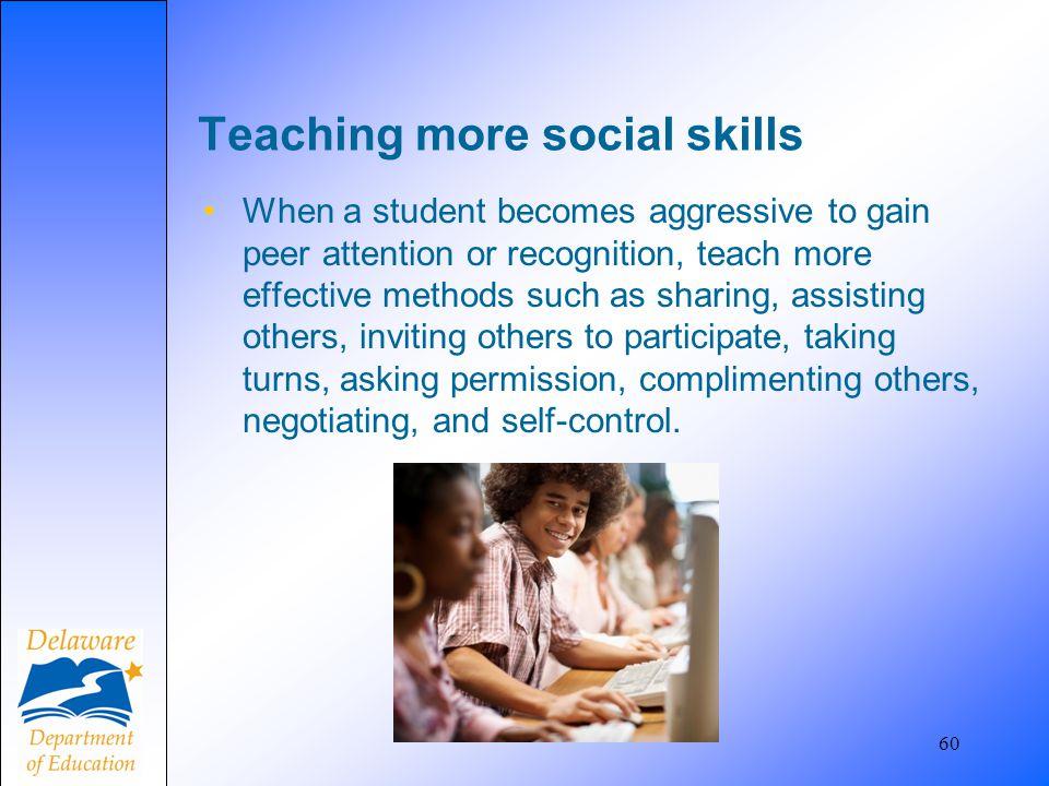Teaching more social skills