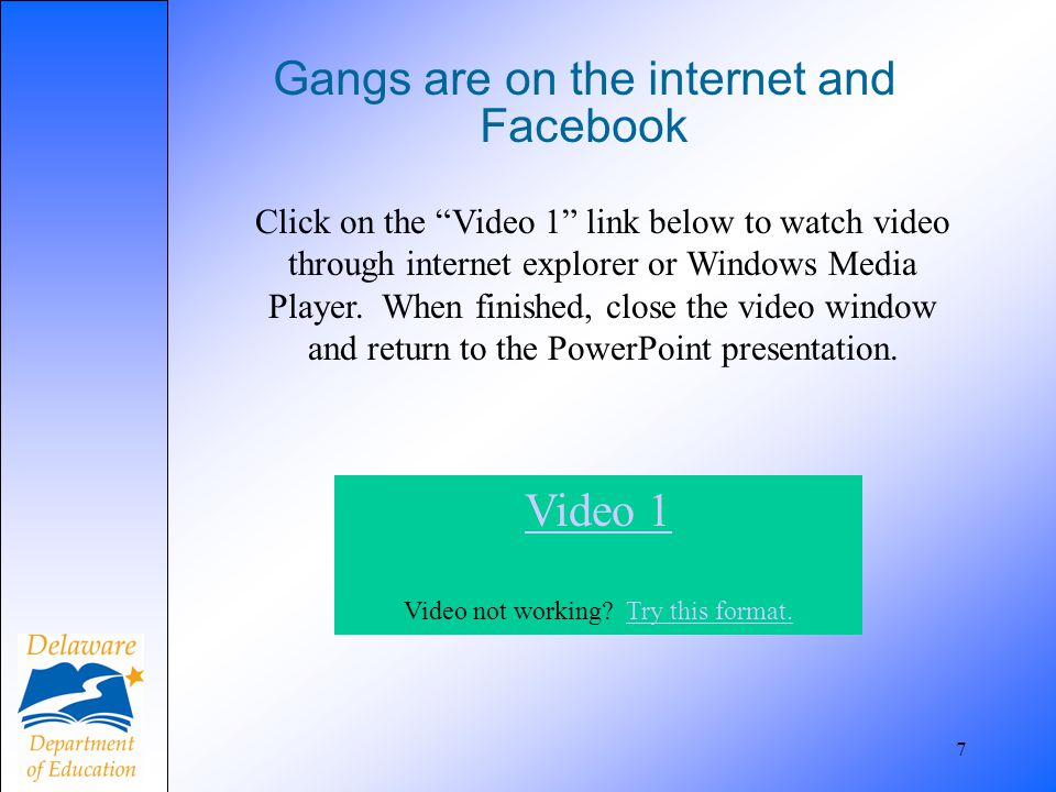 Gangs are on the internet and Facebook
