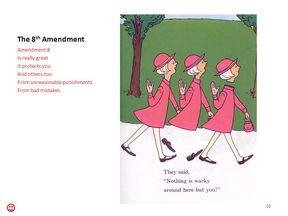 The 8th Amendment Amendment 8 Is really great It protects you