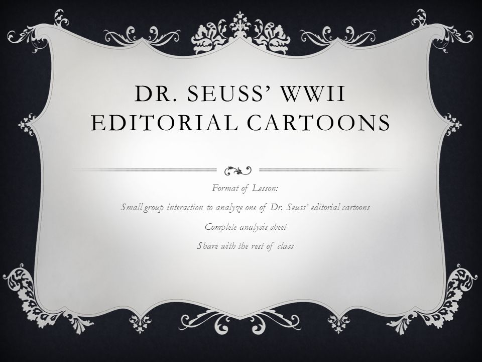 Dr. Seuss' WWII Editorial Cartoons