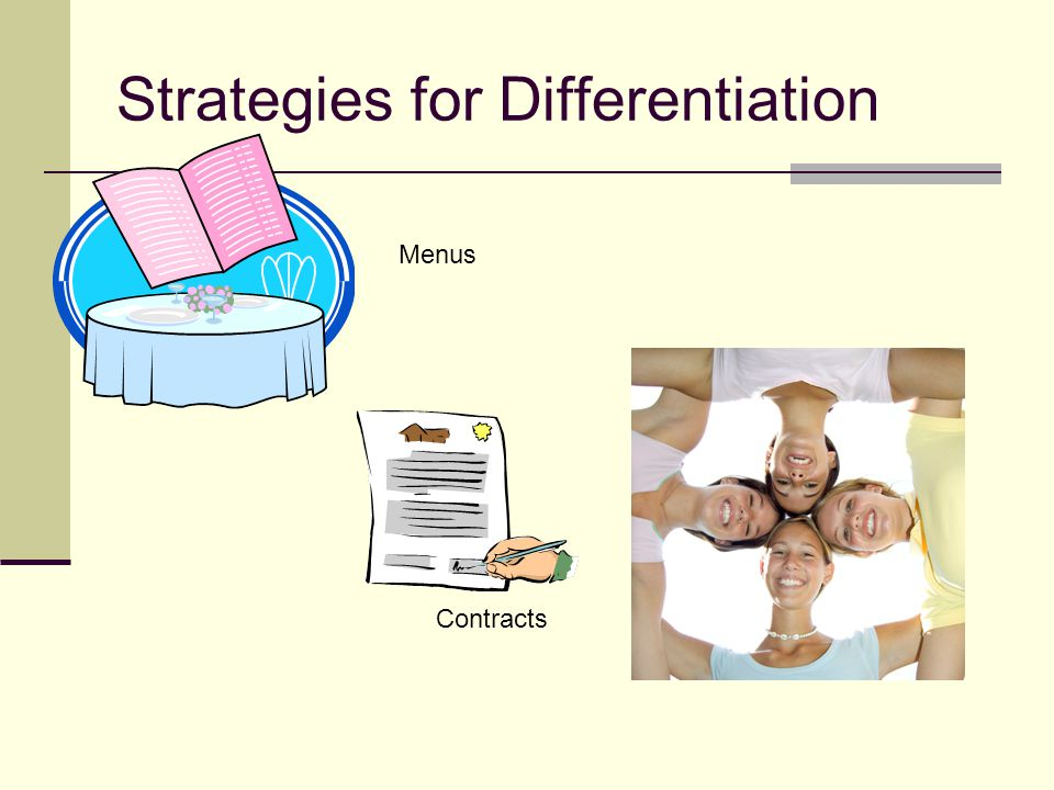 Strategies for Differentiation