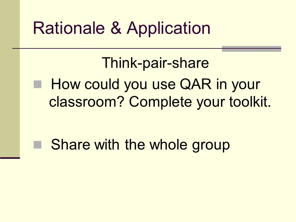 Rationale & Application