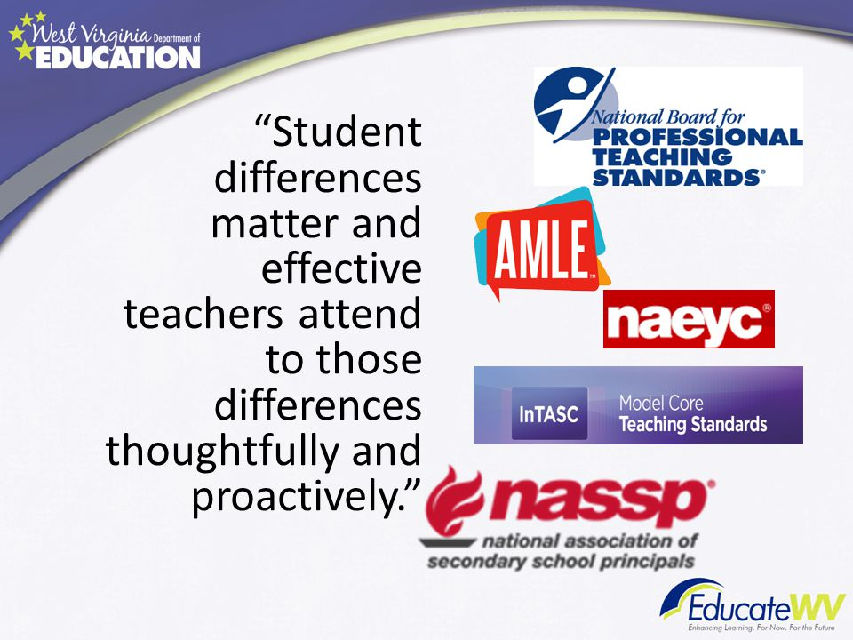Student differences matter and effective teachers attend to those differences thoughtfully and proactively.