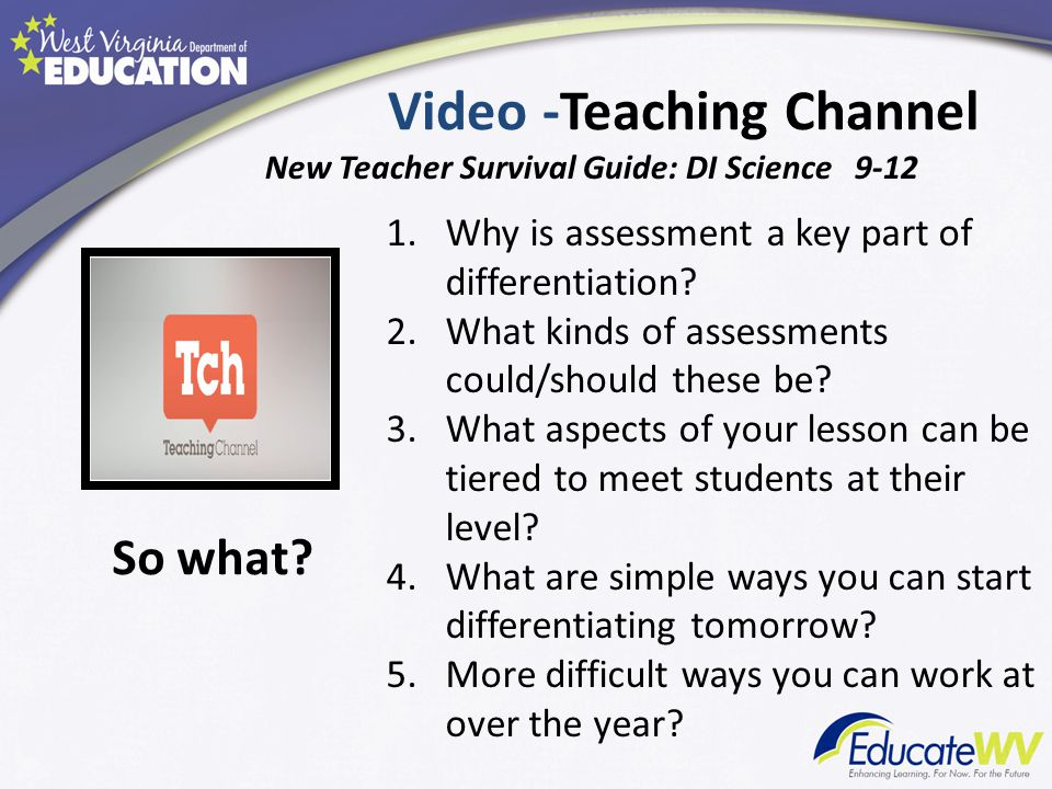 Video -Teaching Channel