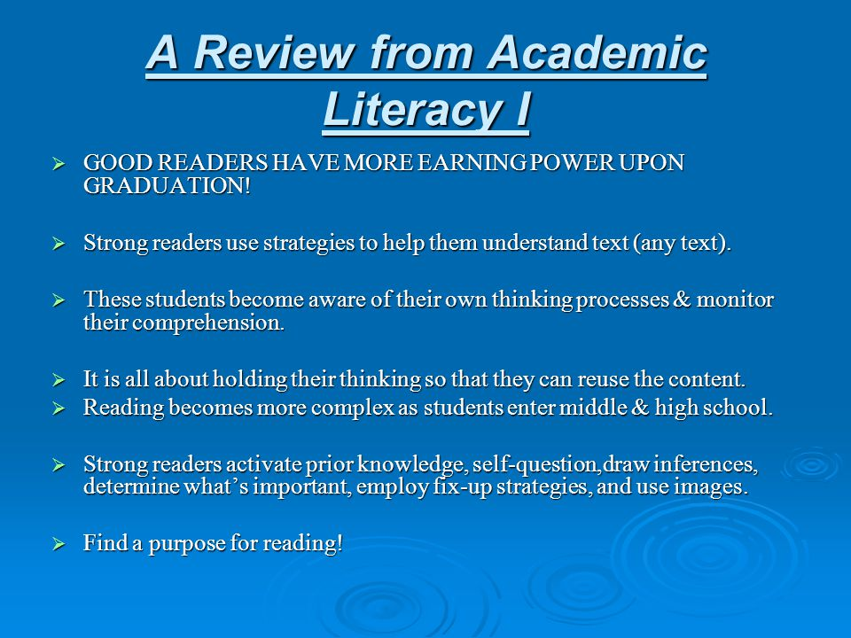 A Review from Academic Literacy I