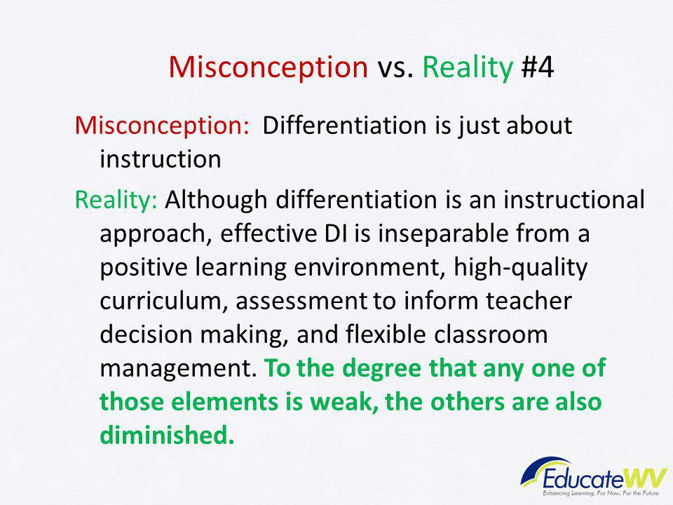 Misconception vs. Reality #4