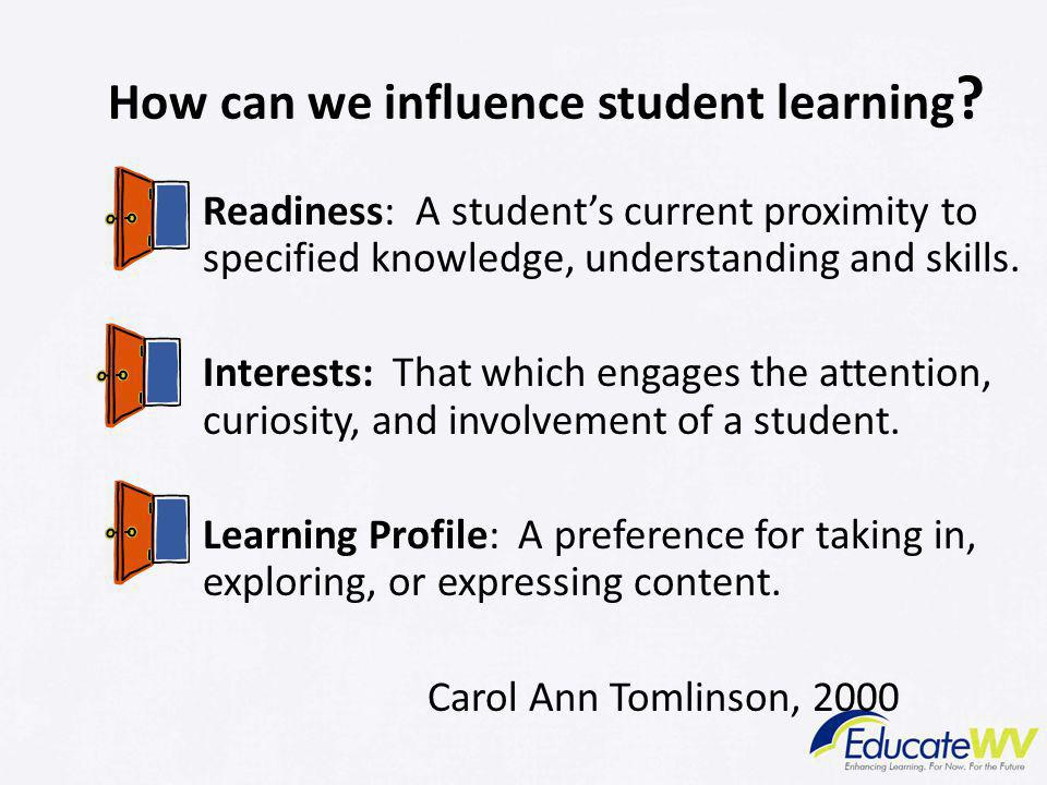 How can we influence student learning