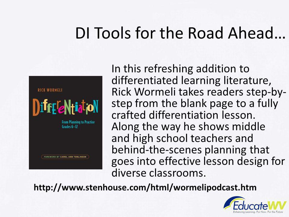 DI Tools for the Road Ahead…