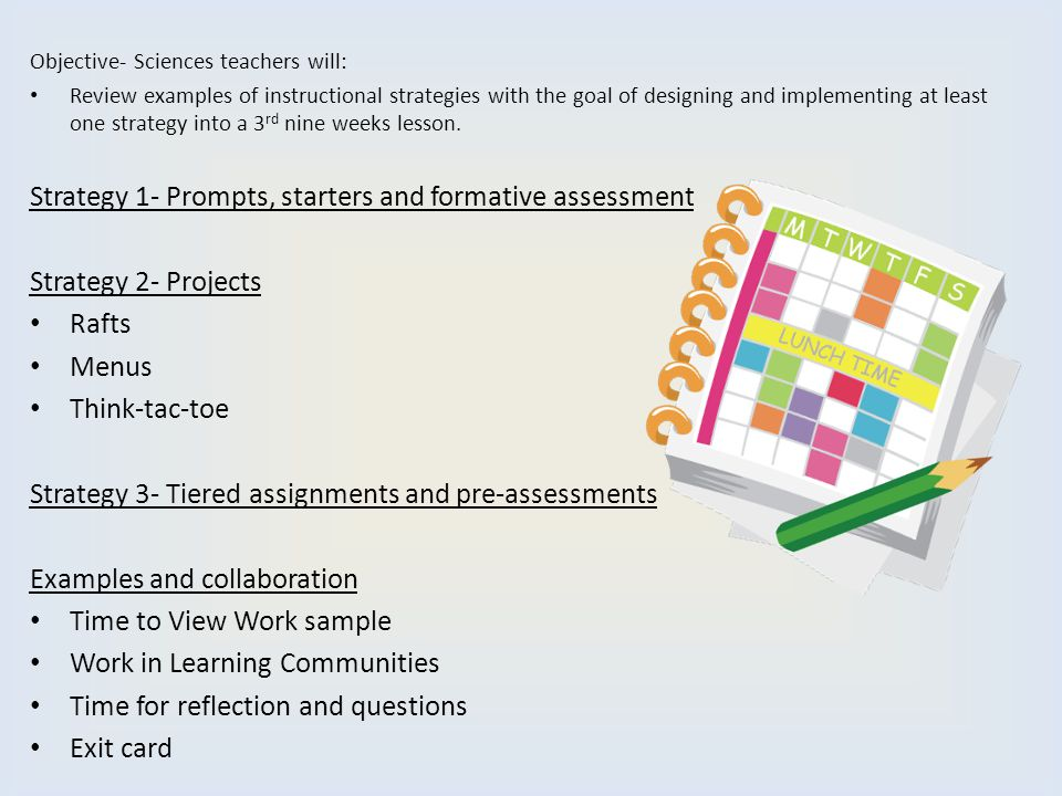 Strategy 1- Prompts, starters and formative assessment