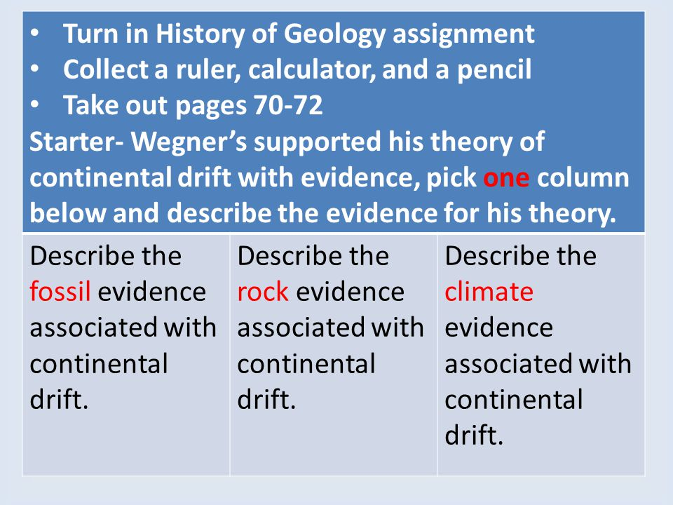Turn in History of Geology assignment