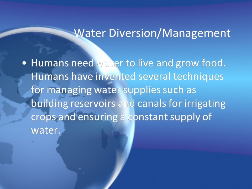 Water Diversion/Management