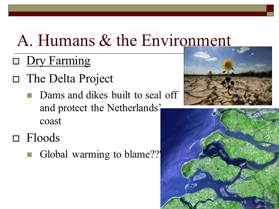 A. Humans & the Environment