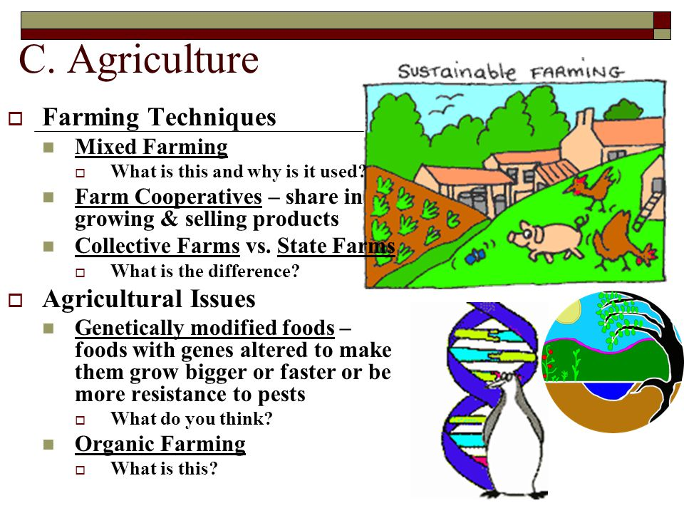 C. Agriculture Farming Techniques Agricultural Issues Mixed Farming
