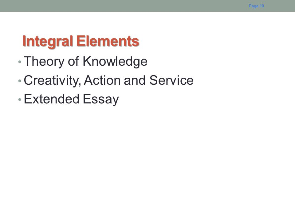 Integral Elements Theory of Knowledge Creativity, Action and Service